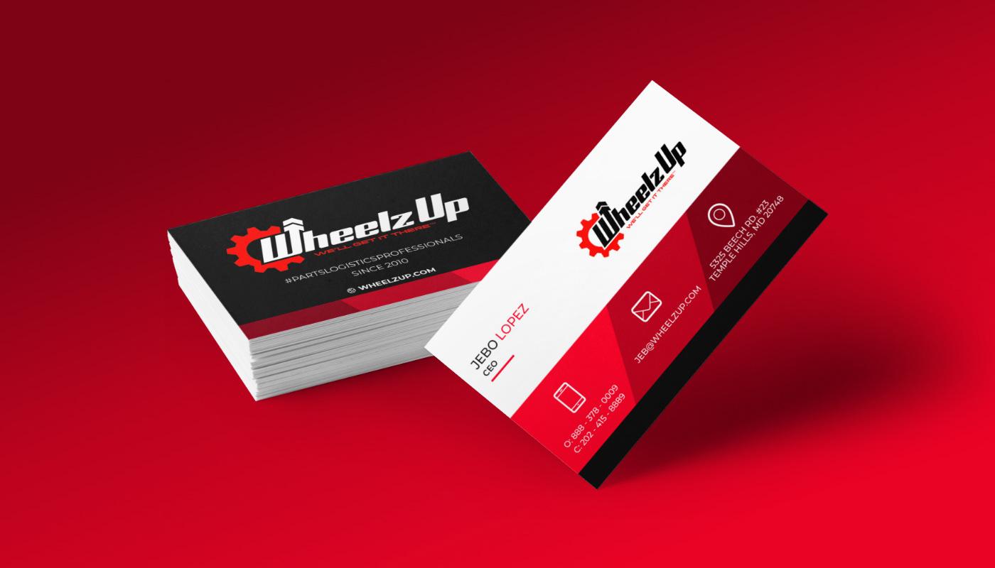 Wheelz Up Business Cards