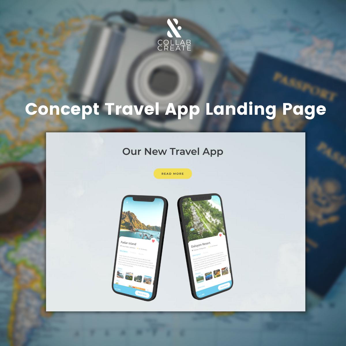 Travel App Concept Landing Page